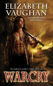 The cover of Warcry, by Elizabeth Vaughan