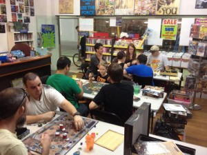The first TableTop Day at KerSplatt! Comics and Collectables.