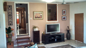 Our living room, post painting and decluttering.