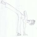 Drawing of a capoerista by Rob Farquhar