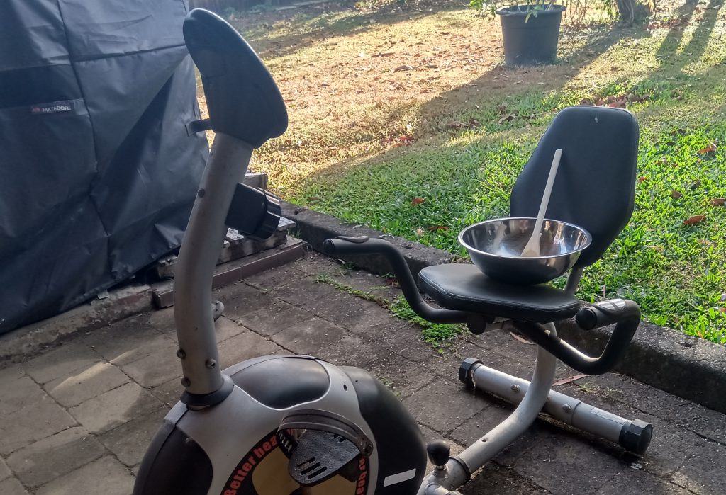 Exercise Bike and Bowl